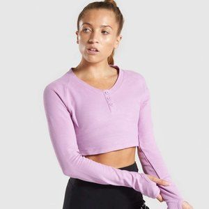 Gymshark Legacy Fitness Long Sleeve Crop Top in Pi
